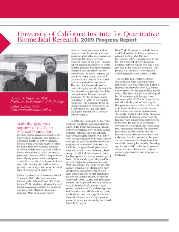 University of California Institute for quantitive Biomedical Research