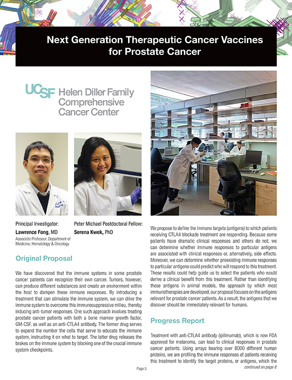 2011 Next Generation Therapuetic Cancer Vaccines for Prostate Cancer