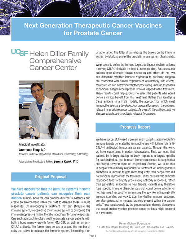 2012 Next Generation Therapeutic Cancer Vaccines for Prostate Cancer