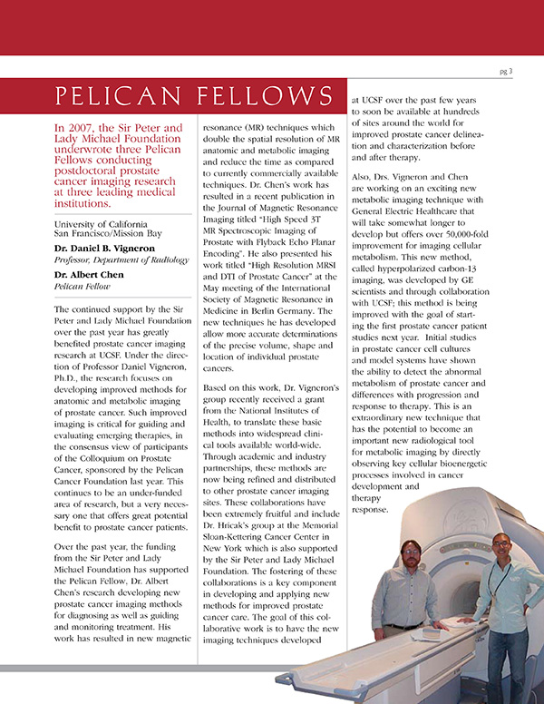2007-2008 Pelican Fellows