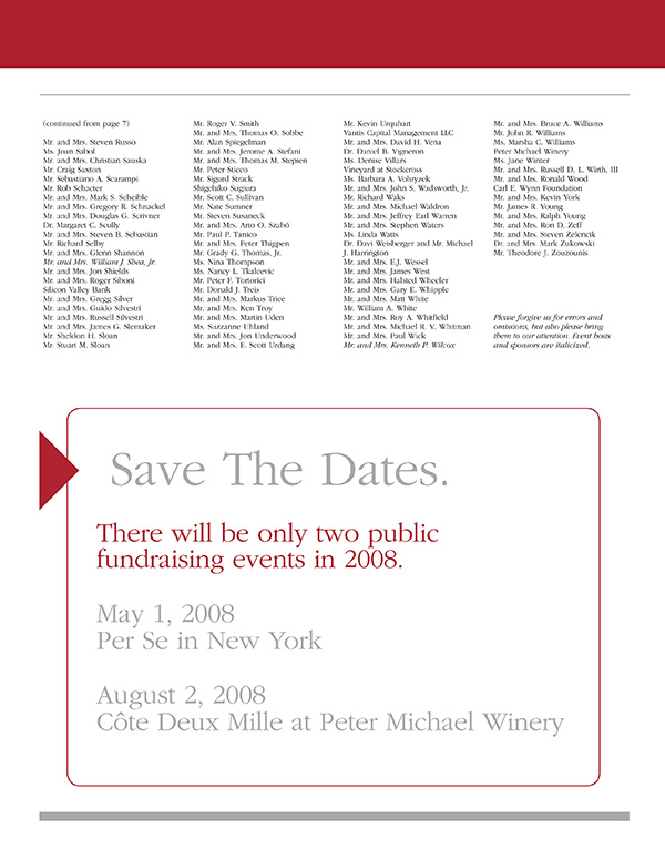 2007-2008 Save The Dates