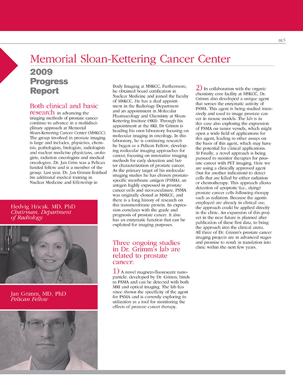2009 Memorial Sloan-Kettering Cancer Center