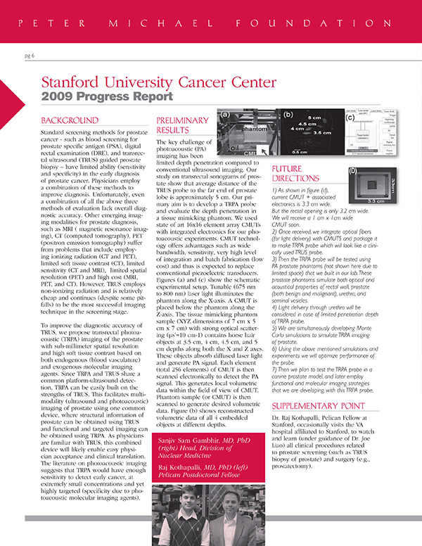 2009 Stanford University Cancer Center